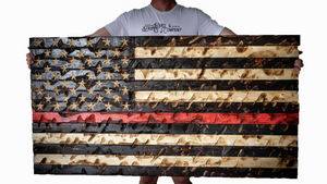 """The GIANT"" Thin Red Line Flag (Firefighter Awareness)"