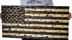 """The Original"" Rustic Burnt American Flag 37"" x 20"""