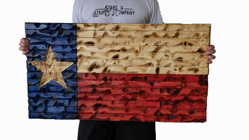 Rustic Texas Flag 37