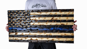 "Thin Blue Line Flag (Police Awareness) 37"" x 20"""