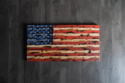 Rustic Flag Canvas