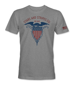 Shield Tee - Heather Grey