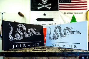 Join or Die Canvas Black