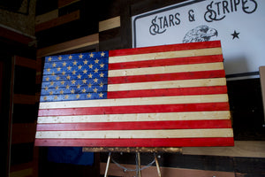 "Full Color CLASSIC American Flag 37"" x 20"""