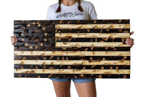 "Burnt Rustic Betsy Ross 1776 edition 37"" x 20"""
