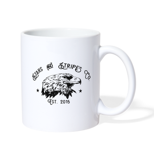 Stars and Stripes Logo Coffee/Tea Mug - white