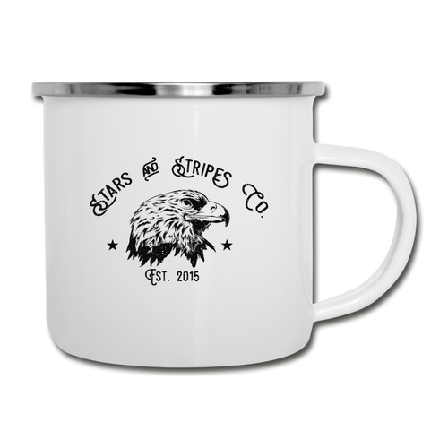 Stars and Stripes Logo Camper Mug - white