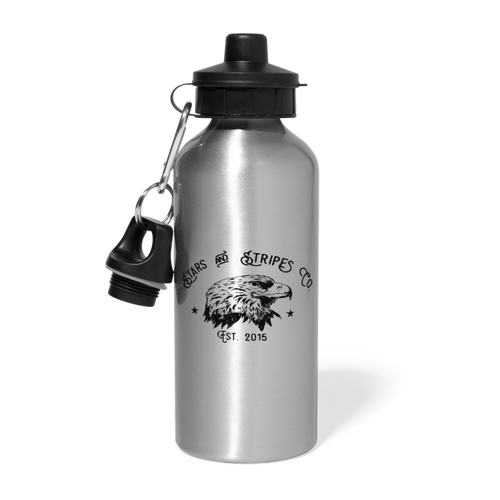 Stars And Stripes Logo Water Bottle - silver