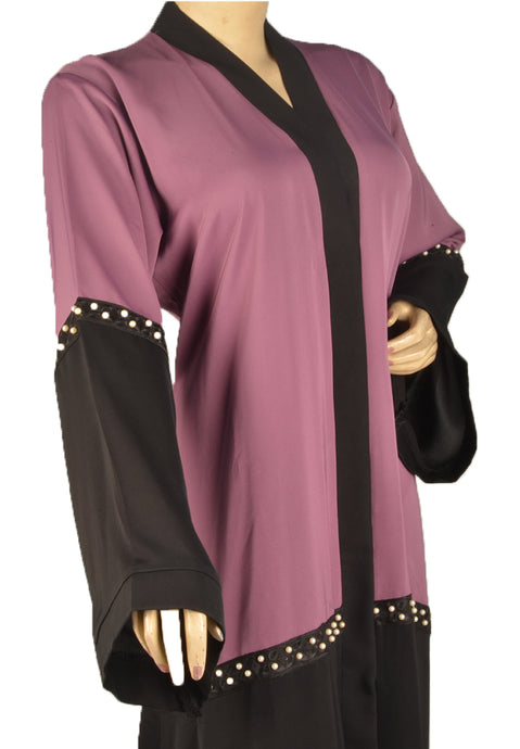 Half Body Abaya with Pearls