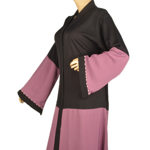 Half Body Abaya With Pearls( Front Open) - Fakhur