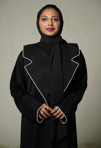 Black Abaya With Suit Laples