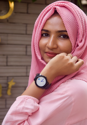 Pink Pleated Hijab - Fakhur