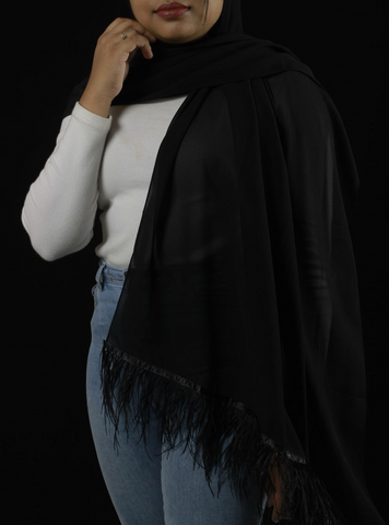 Black Feather Hijab - Fakhur