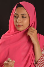 Load image into Gallery viewer, Hot Pink Bubble Chiffon Hijab
