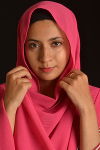 Hot Pink Bubble Chiffon Hijab