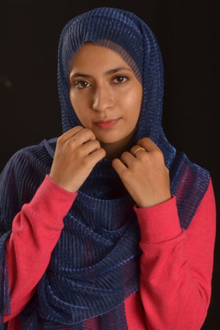 Royal Blue Sparkling Hijab - Fakhur