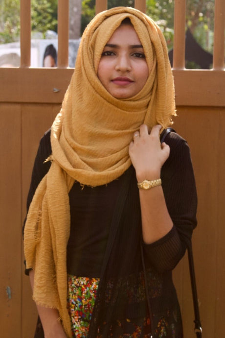 Mustard Yellow Wrinkle HIjab