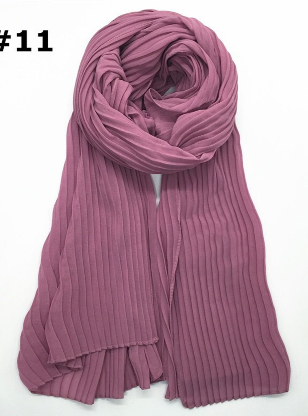 Arora Pink Knife Pleated Hijab