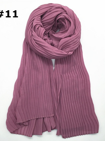 Arora Pink Knife Pleated Hijab - Fakhur