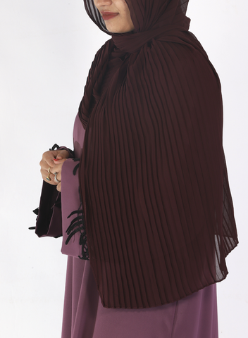 Wine Knife Pleated Hijab