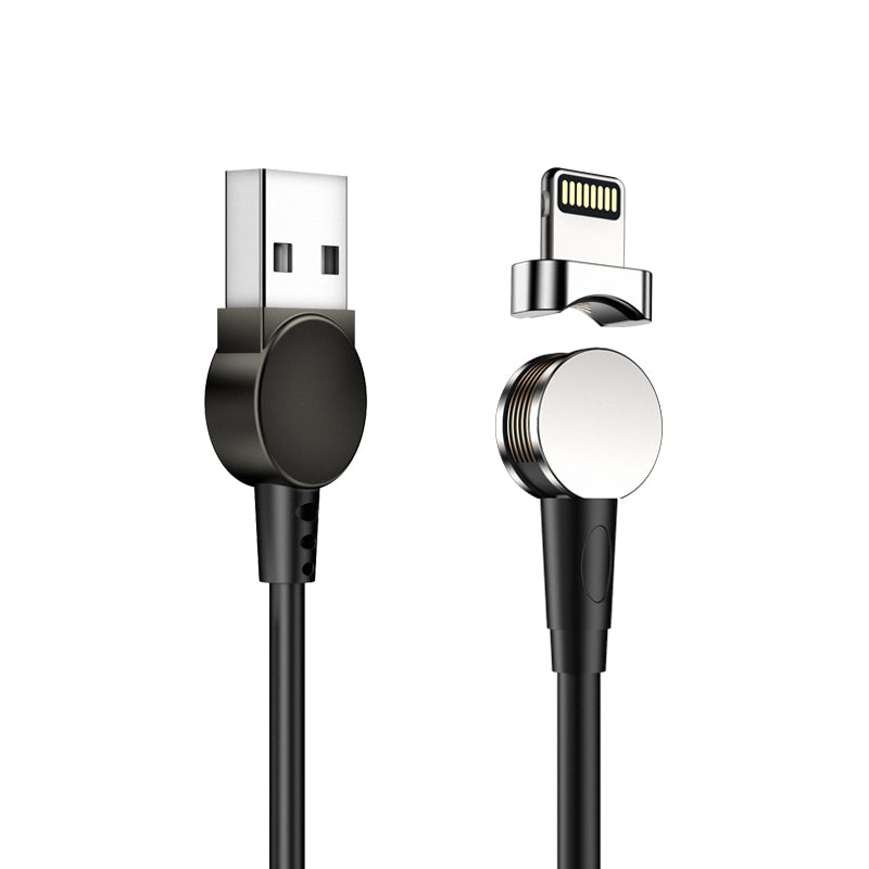180-degree rotating detachable magnetic USB charge data cable for Android iPad MacBook