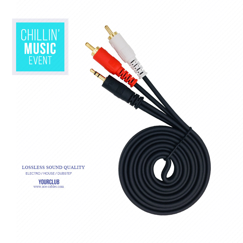 ACE-Clouds RCA cable 3.5mm to 2RCA Male Stereo Audio Y Cable