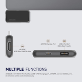 3 in 1 USB-C Mini Hub with USB-C PD Charging port for MacBook Air