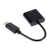 6FT DisplayPort (DP) to VGA Adapter Gold Plated Black