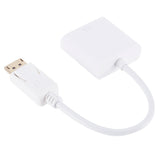 6FT DisplayPort (DP) to VGA Adapter Gold Plated White