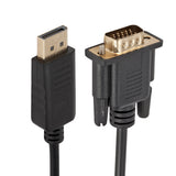 6FT DisplayPort to VGA Cable Gold Plated