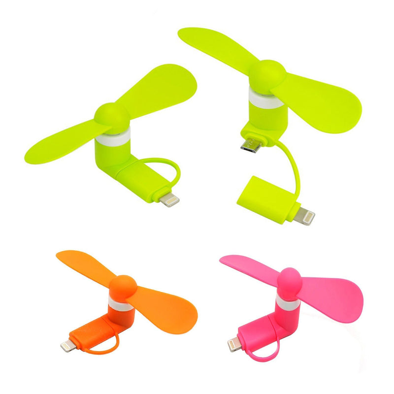 Colorful and Powerful 2-in-1 Fans for iPhoneiPad and Android SmartphoneTablet