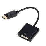 DisplayPort to DVI Male to Female Converter Gold Plated