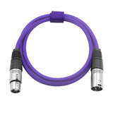 Microphone Cable Cords - XLR Male to XLR Female Color Cables-Violet