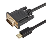 Mini DisplayPort (DP) to VGA Cable 6FT BK