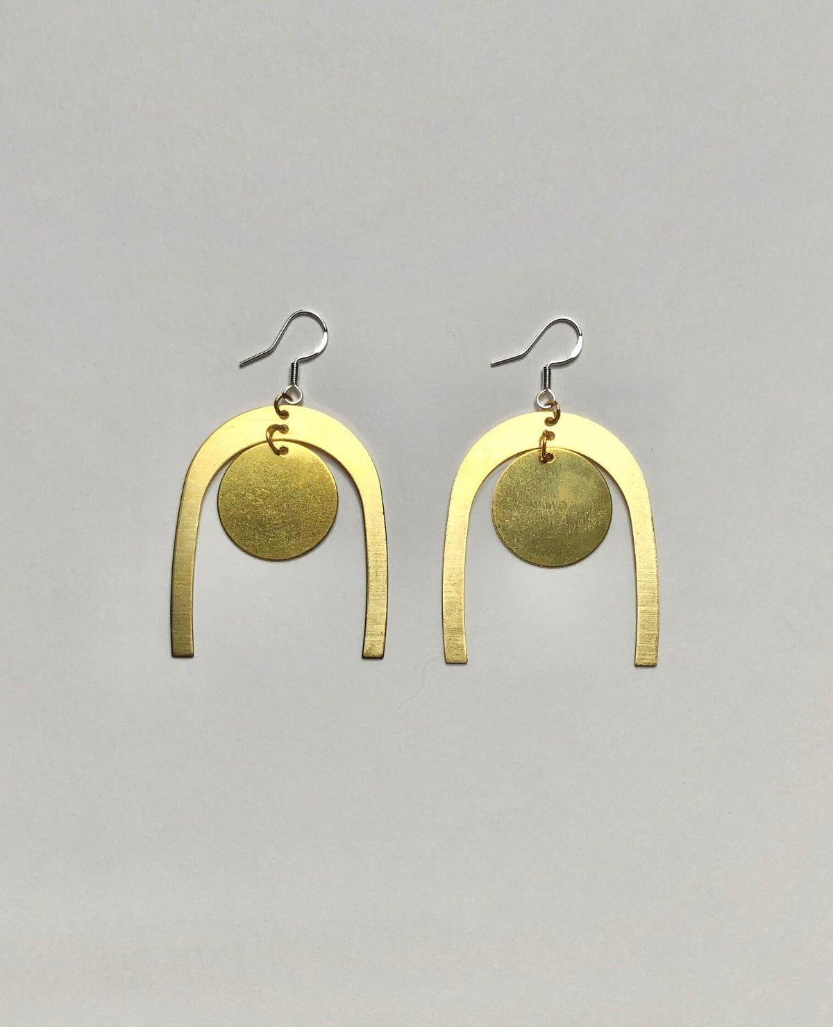 WE COME IN PEACE Peace Earrings / Brass