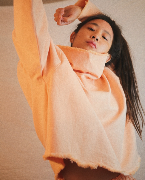 ASHLEY ROWE Long Sleeve Turtleneck / Peach Nougat