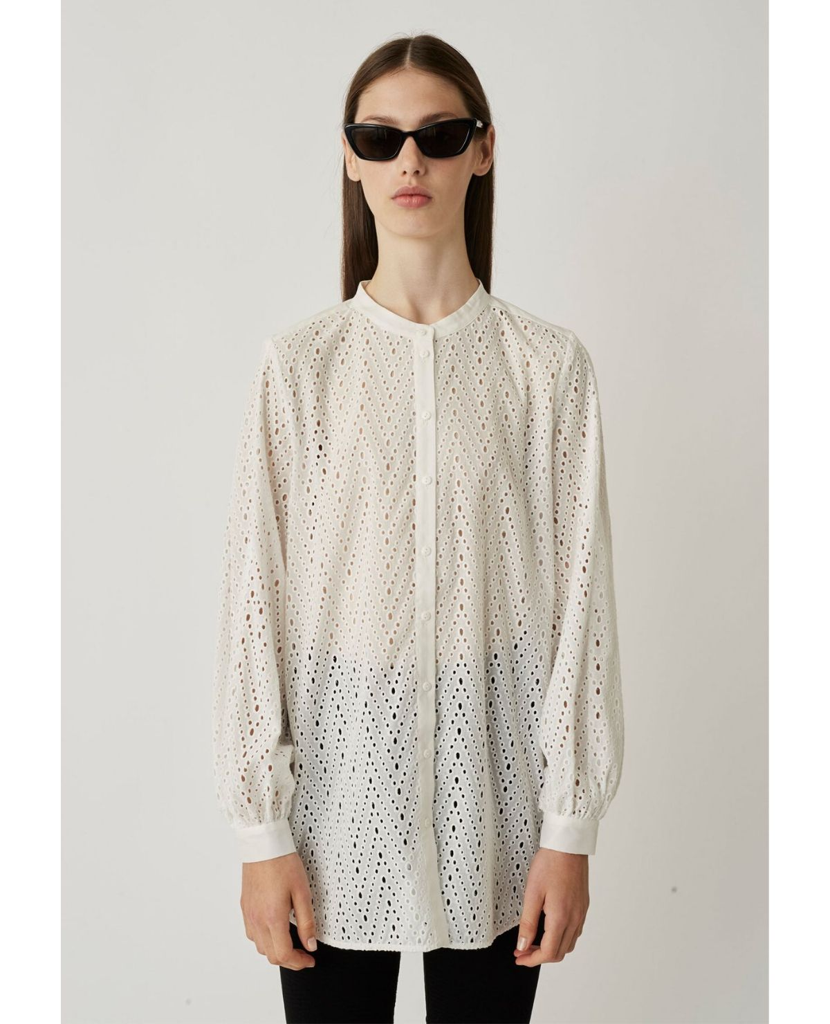 JUST FEMALE Naila Shirt / Brilliant White