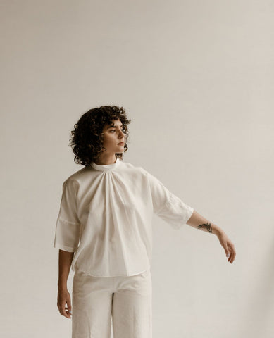 OPEN AIR MUSEUM Sonnet Top / White