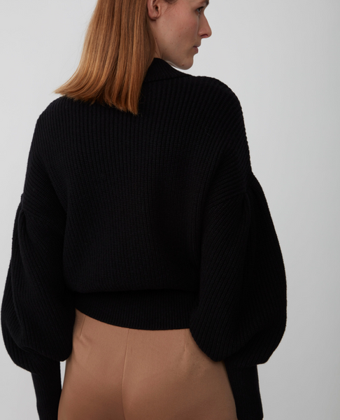 JUST FEMALE Sophie High Neck Knit / Black