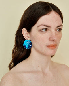JULIE THEVENOT Medusa Earrings / Blue
