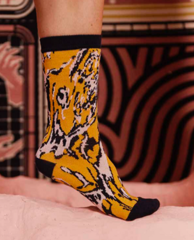 HENRIK VIBSKOV Mixed Water Femme Socks / Yellow