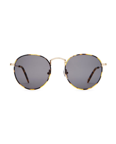 CRAP EYEWEAR The Tuff Patrol / Brushed Gold & Tokyo Tortoise / Grey