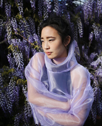 ASHLEY ROWE Turtleneck / Lilac Organza