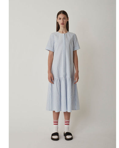 JUST FEMALE Payton Dress / Chambray Stripe