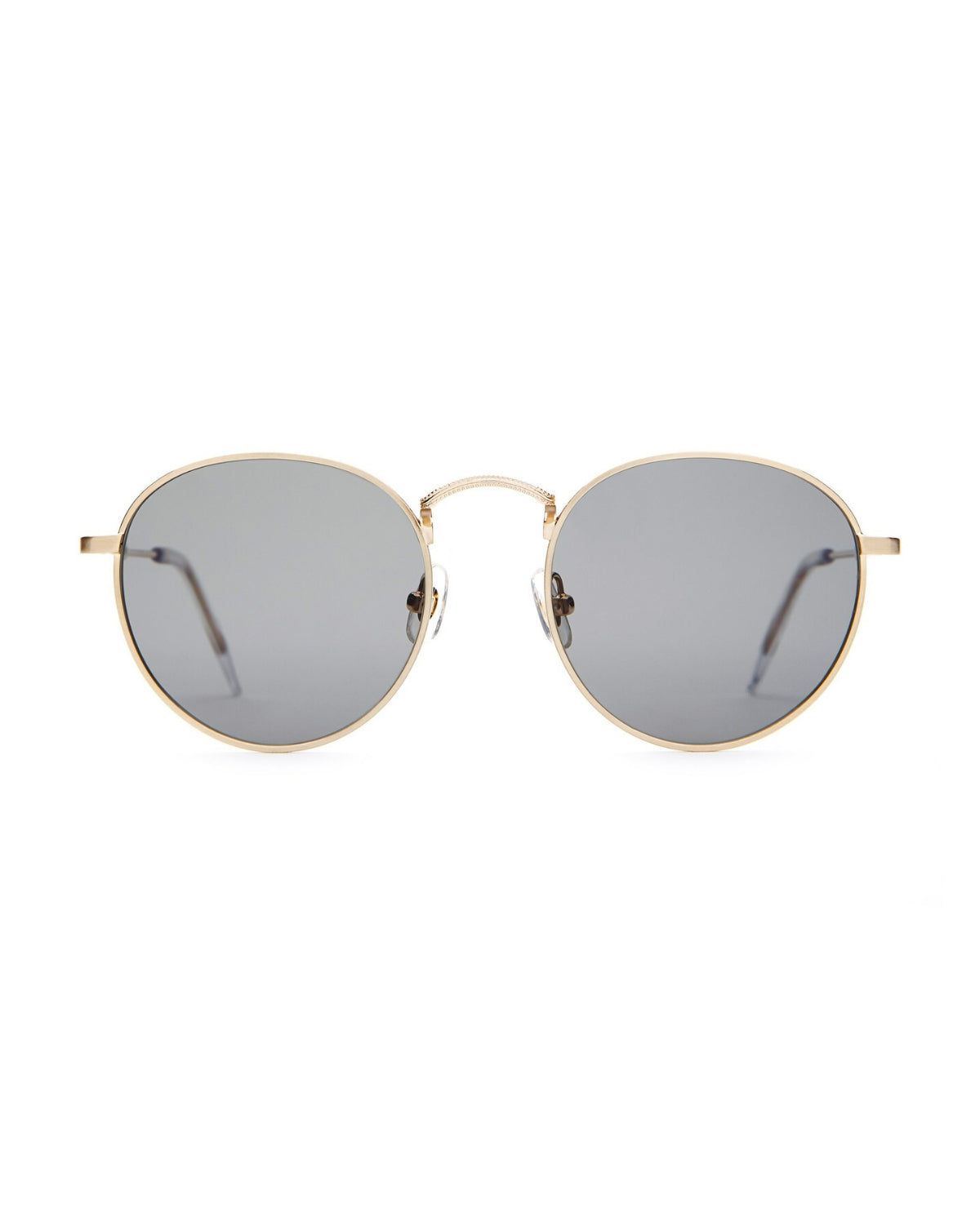 CRAP EYEWEAR The Tuff Patrol / Brushed Gold & Crystal / Polarized Grey