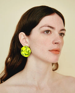 JULIE THEVENOT Medusa Earrings / Chartreuse
