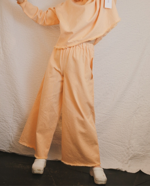 ASHLEY ROWE Ankle Long Pant / Peach Nougat