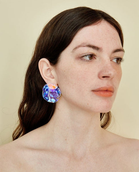 JULIE THEVENOT Medusa Earrings / Prism Cold