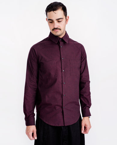 HOUSE OF THE VERY ISLANDS Raglan Shirt / Oxblood