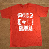 New Summer Men's T-shirt Choose Your Weapon Gamer T Shirt